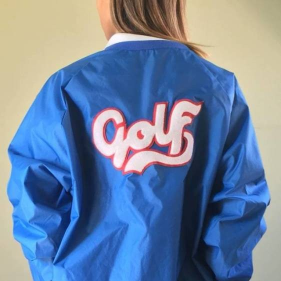 Tyler The Creator Blue Script Jackets Abstract coat Men women's
