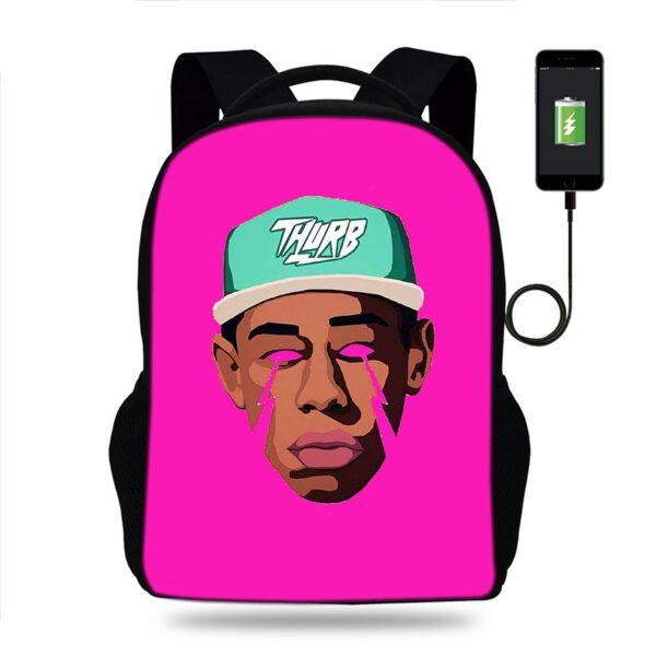 Tyler The Creator kids backpack school bags
