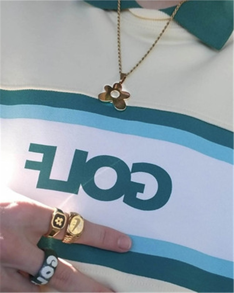 GOLF WANG 3D logo necklace colorful letters fashion necklace