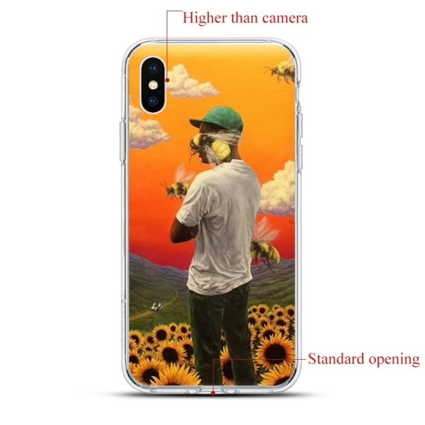 Tyler The Creator Soft transparent Silicone Phone Case For iPhone