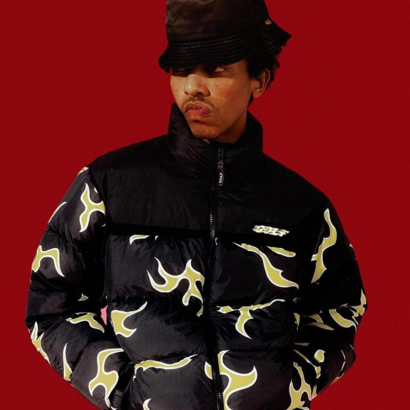 Tyler The Creator Blue Flame Coats & Jackets Warm Winter Men/women