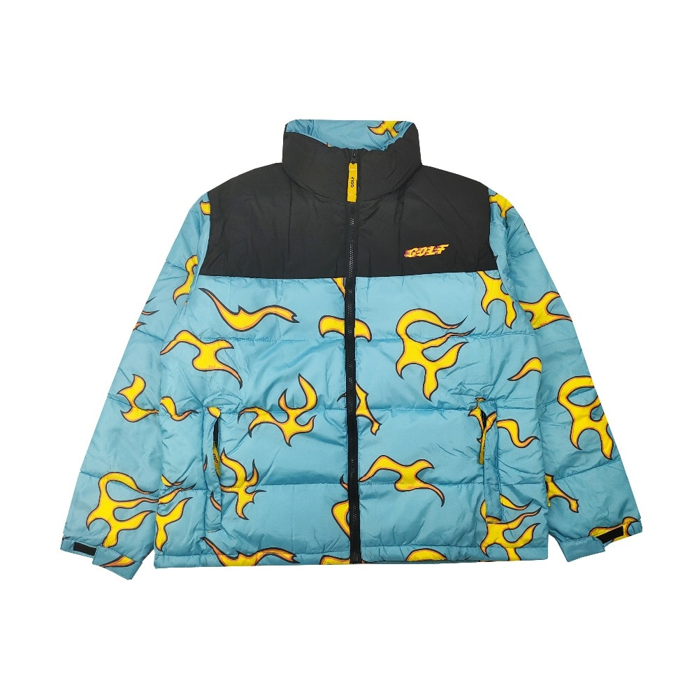 Tyler The Creator Blue flame cotton warm Winter Coats & Jackets