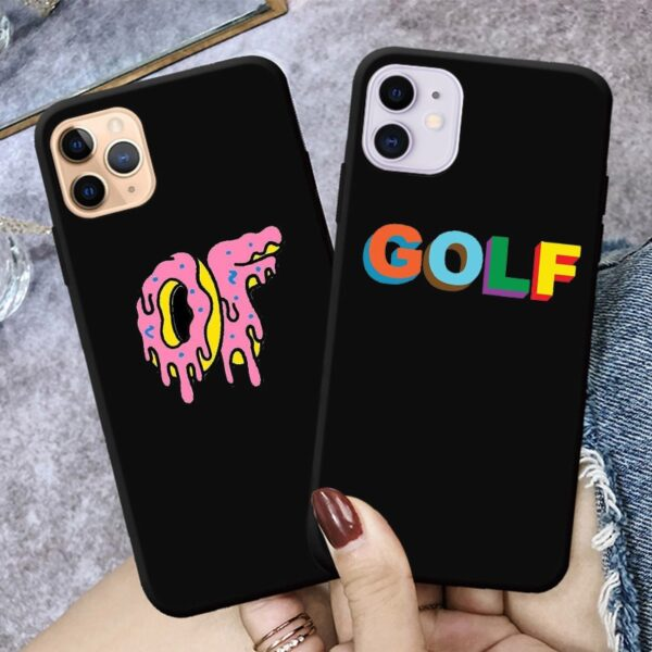 Tyler The Creator Golf Cover For IPhone XS X 6 5 7 8 Plus 11 12Pro Mini Max2020 Black Phone Case