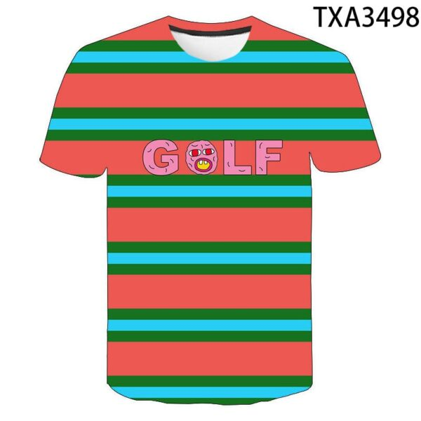 Golf Wang Poster Tyler The Creator 3D T Shirt Men Women Children Funny Skate Cherry Bomb T-shirt Hip Hop Tops Streetwear Tee